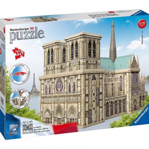 notre dame - puzzle 3d 324 pezzi