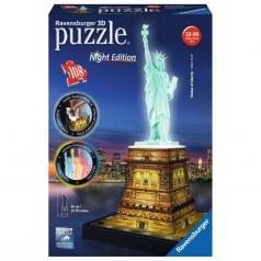 statua della liberta night edition - puzzle 3d 108 pezzi