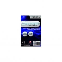 sapphire sleeves blue - 100 bustine 59x92mm