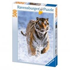tigre nella neve - 500 pezzi
