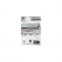 sapphire sleeves white - 100 bustine 50x75mm