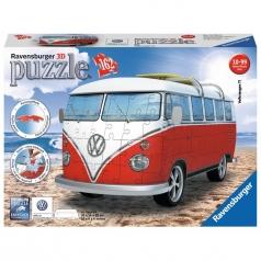 pulmino volkswagen - puzzle 3d 162 pezzi