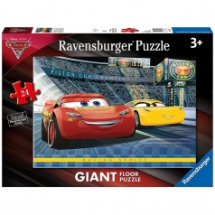 cars 3 a - puzzle 24 pezzi pavimento