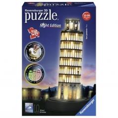 torre di pisa con led - puzzle 3d 216 pezzi