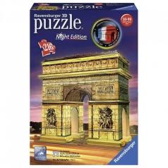 arco di trionfo night edition - puzzle 3d 216 pezzi