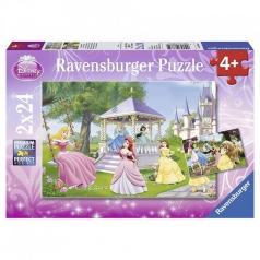 disney princess - puzzle 2x24 pezzi