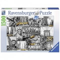 macchie di colore a new york - puzzle 1500 pezzi