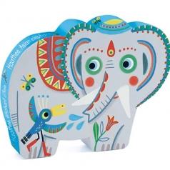 elefante - puzzle 24 pezzi