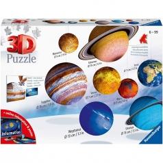 il sistema planetario - puzzle 3d 522 pezzi