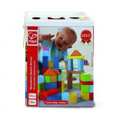 costruzioni in legno con gioco delle forme - 101 pezzi
