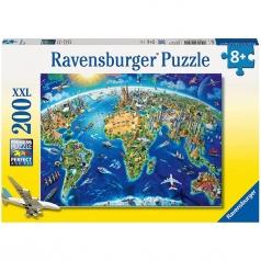 vista del mondo - puzzle 200 pezzi xxl