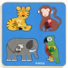 family jungle - puzzle in legno ad incastro