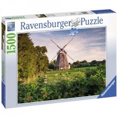 mulino a vento sul mar baltico - puzzle 1500 pezzi