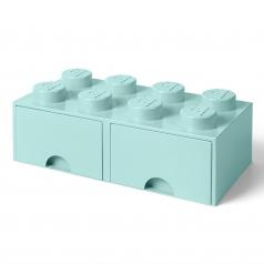 rclbd8lb - brick drawer 8 azzurro