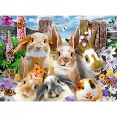 selfie di coniglietti - puzzle 100 pezzi xxl