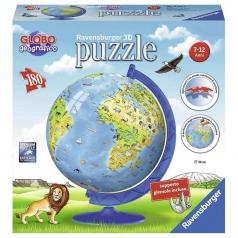 globo 3d kids -  puzzle 3d 180 pezzi