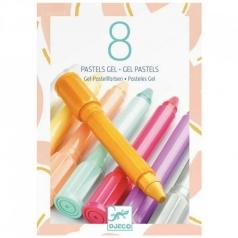 8 pastelli gel - colori tenui