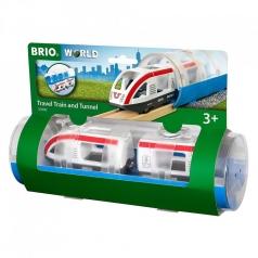 treno passeggeri e tunnel