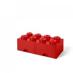 rclbd8rd - brick drawer 8 rosso
