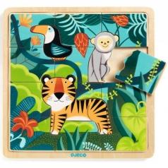 puzzlo jungle - puzzle in legno della giungla
