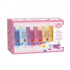 sweet - confezione con 6 tubi di colori a dito