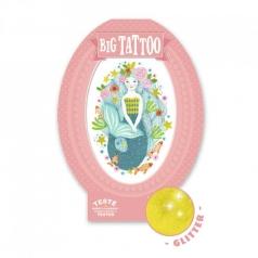 aqua blue - tatuaggio glitter