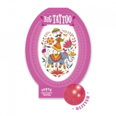 rose india - tatuaggio glitter