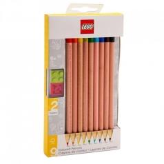 matite colorate - set 9 pezzi con toppers