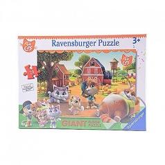 44 gatti in fattoria - puzzle 24 pezzi gigante
