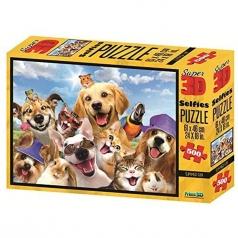 puzzle 3d 500 pezzi - animali selfie