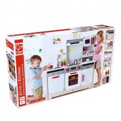 cucina per bambini tutto in 1 in legno con lavagna