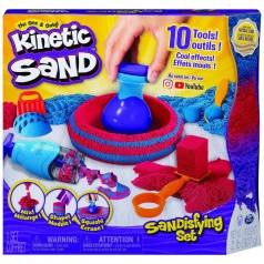 kinetic sand - sandisfying set 907 g di sabbia e 10 attrezzi particolari