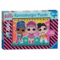 lol surprise stelle e glitter - puzzle 100 pezzi xxl