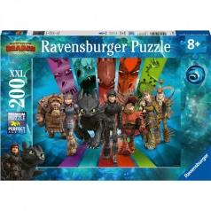 dragons 3 - puzzle 200 pezzi xxl