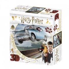 puzzle 3d 300 pezzi - harry potter - macchina volante