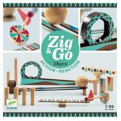 zig & go - domino in legno 28 pezzi