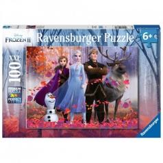 frozen 2 la magia della foresta - puzzle 100 pezzi xxl