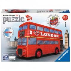 london bus - puzzle 3d 216 pezzi