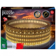 colosseo night edition - puzzle 3d 216 pezzi