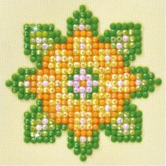 flower mandala 1 - diamond dotz starter dds.029