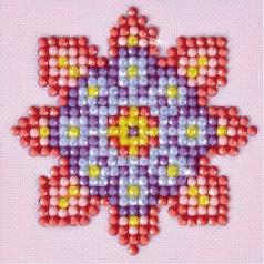 flower mandala 2 - diamond dotz starter dds.030