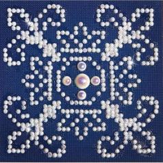 white on blue - diamond dotz beginner dd1.003