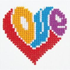love - diamond dotz beginner dd1.012