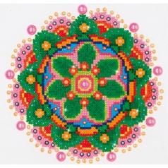 flower mandala - diamond dotz beginner dd3.008