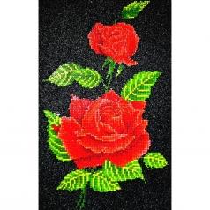 red rose corsage  - diamond dotz intermediate dd5.025 27x42cm