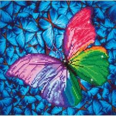 flutter by pink - diamond dotz intermediate dd5.015 30.5x30.5cm