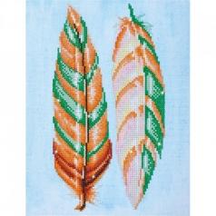 feather whispers - diamond dotz intermediate dd5.024 28x37cm
