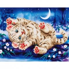 baby tiger roly poly - diamond dotz intermediate dd5.005 35.5x27.9cm