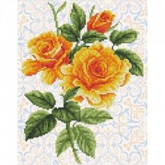 yellow rose bouquet - diamond dotz intermediate dd6.008 28x36cm