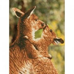 kissing kangas - diamond dotz intermediate dd6.001 31x41cm